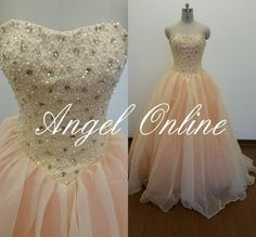 this is amazingly cute !!!<<<Quinceanera Dresses-Blush Pink Prom DressBall by Angelonlinedress