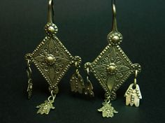 Berber earrings, Morocco