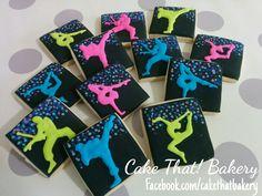 Ninja gymnast cookies