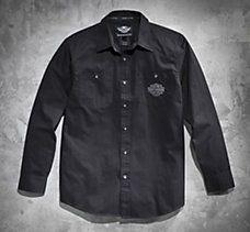 Tonal Flames Long-Sleeve Shirt