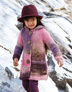 Sweater And Jacket In Hayfield Chunky Wi - Diy Crafts Baby Cardigan Knitting Pattern, Chunky Knitting Patterns, Crochet Coat, Knitted Coat, Knitting For Kids, Baby Knitting, Girls Fall Outfits, Quick Knits, Kids Coats