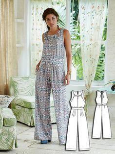 Boho Jumpsuit 04/2016 #112B #burdastyle #sew #sewing #pattern #diy