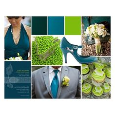 Sharratt-Stephen Wedding / Inspiration Teal and Green Wedding... found on Polyvore