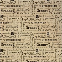 "Dinglefoot's Scrapbooking - Grandma 12"" x 12"" Vellum Scrapbook Paper, $0.75 (http://www.dinglefoot.com/grandma-12-x-12-vellum-scrapbook-paper/)"