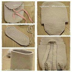 뜨개와수다의 만남   BAND Diy Crochet, Crochet Crafts, Crochet Projects, Diy Crafts, Crochet Handbags, Crochet Purses, Crochet Wallet, Crochet Shell Stitch, Crochet Stitches