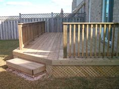 Backyard decks decks and backyards on pinterest for Small backyard decks