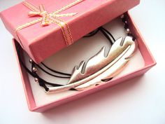FREE SHIPPING Metal Feather Necklace  Sideways by SomeBijoux4You