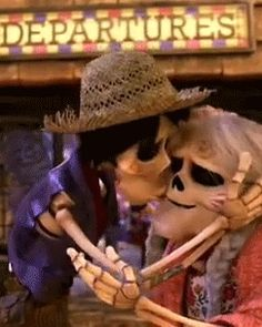 coco hector | Tumblr>> No. Nonono. Wait. Wait a minute. Hold on. Yes! No no no... wait, wait, wait, wait. Do skeletons have lips? Besides, this is so adorable ♡