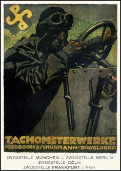 Ludwig Hohlwein — Tachometerwerke —1920.