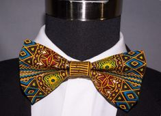 Dashiki.....Bow tie/tie.....Ankara tie/Bow by Sanerd on Etsy