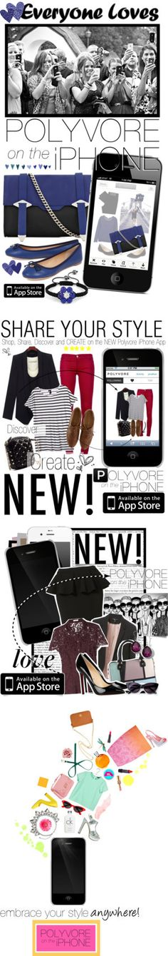 """""""Polyvore Is on the iPhone"""" by polyvore-editorial ❤ liked on Polyvore"""