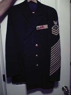 Jacket of TMC Harry S. Morris, record holder for longest US Navy enlistment: 55 years.