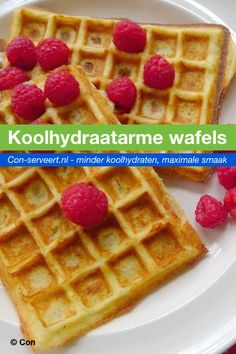 Low-carb waffles, sugar-free and gluten-free – Con-serving – Famous Last Words Healthy Cake Recipes, Low Carb Recipes, Sweet Recipes, Low Carb Waffles, Strawberry Shortcake Recipes, Waffle Recipes, Health Desserts, Low Carb Keto, How To Make Cake