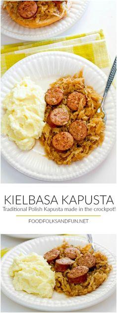 This recipe for Kielbasa Kapusta is my family's traditional Polish Kapusta recipe made in a slow cooker! | Family Recipe | Kapusta Recipe Polish Recipe