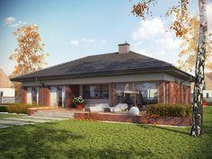 Modne przeszklenia otwierają wnętrze na piękno okolicy, zapraszają do środka naturalne światło i wspólnie z ponadczasową elegancją cegły tworzą efektowną kompozycję elewacji.