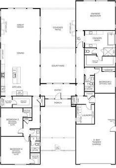 Tiny House Plans 639933428288162050 - Beacon Plan 1 Floorplan Source by Ranch House Plans, Tiny House Plans, House Floor Plans, U Shaped House Plans, Shipping Container Home Designs, Container House Design, Patio Plan, Home Map Design, U Shaped Houses