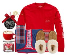 A fashion look from November 2015 featuring Vineyard Vines t-shirts, Boohoo socks and Isaac Mizrahi tech accessories. Browse and shop related looks. Cute Lazy Outfits, Casual School Outfits, Chill Outfits, Teen Fashion Outfits, Outfits For Teens, Cute Christmas Outfits, Holiday Outfits, Winter Night Outfit, Pajama Outfits