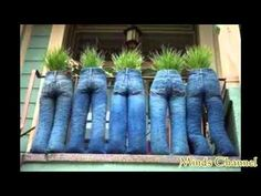 Blue Jean Plant Stand - YouTube
