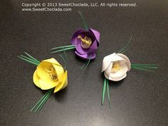 12 Wedding Party Favors Crocus with decorated by SweetChoclada, $36.00