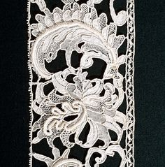 Great lace of Venetian lace, century - - Needle Lace, Bobbin Lace, Antique Lace, Vintage Lace, Irish Crochet, Crochet Lace, Bruges Lace, Types Of Lace, Fabric Embellishment