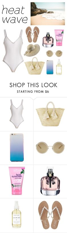 """""""Another Day At The Beach"""" by hannahmccoy21 ❤ liked on Polyvore featuring kiini, Giselle, Dolce&Gabbana, Alba Botanica, A Weathered Penny and M&Co"""
