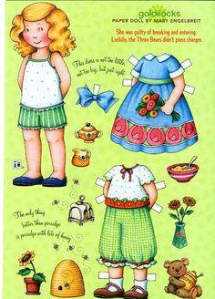 (⑅ ॣ•͈ᴗ•͈ ॣ)♡ ✄Uncut Paper Doll Goldilocks by Mary Engelbreit