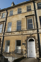 Jane Austen's house in Bath.  She lived here from 1801 to 1805.