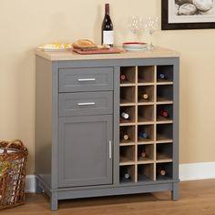 Simple Living Kennedy Grey MDF Wine Cabinet With Open Rack (Kennedy Wine Cabinet, grey) Wine Shelves, Wine Storage, Storage Drawers, Kitchen Storage, Locker Storage, Storage Area, Home Bar Furniture, Apartment Furniture, Online Furniture