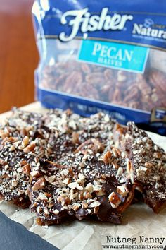 Brown Butter Pecan Toffee by Nutmeg Nanny