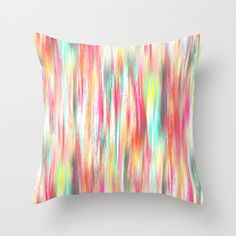 Colorful Abstract Pillow Cover Modern Home Decor Living room bedroom accessories Cushion Cover Colorful Decor Yellow Pink Aqua Grey Orange - pinned by pin4etsy.com