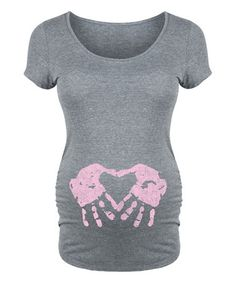 Look at this #zulilyfind! Athletic Heather Handprint Heart Girl Maternity Scoop Neck Tee #zulilyfinds