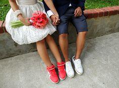 Ténis para noivas. #casamento #ténis #noivos