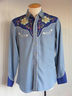 Vintage H Bar C Mens Western Shirt