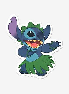 Disney Lilo & Stitch Hula Decal, , hi-res Bubble Stickers, Cool Stickers, Printable Stickers, Lilo Y Stitch, Cute Stitch, Stitch Movie, Disney Stitch, Disney Collage, Stitch Drawing