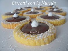 Kinds Of Desserts, Cookie Desserts, Cookie Recipes, Dessert Recipes, Biscotti Cookies, Galletas Cookies, Nutella Biscuits, Sweet Pastries, Italian Cookies