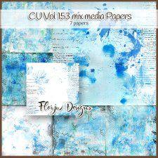 Cu Vol 153 MIX MEDIA Papers  Florju Designs #CUdigitals cudigitals.comcu commercialdigitalscrapscrapbookgraphics #digiscrap
