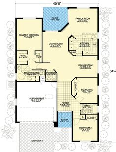 Classic Florida Bungalow House Plan - 32213AA | 1st Floor Master Suite, CAD Available, Florida, Mediterranean, PDF, Split Bedrooms | Architectural Designs