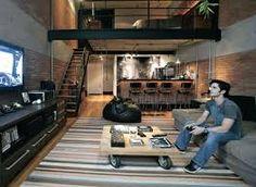 Resultado de imagem para design de interiores apartamento de solteiro