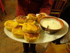 Onion mini-cake with cheese sauce @ Ristorante Madonna della Neve