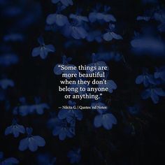 Some things are more beautiful when they don't belong to anyone or anything. Nikita Gill via (http://ift.tt/2lPD9Gk)