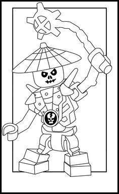 Ninjago Lego Coloring Pages Party For Kids