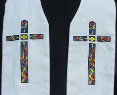 clergy stole Priest stole Pastor stole vestment by FaithThreads, $150.00