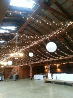 Inside Of The Dutch Barn Greer SC As It Was Being Decorated For An Upcoming Wedding