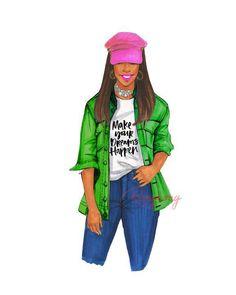 AKA Make Your Dreams Happen Art Print Delta Art, Alpha Art, Aka Sorority, Alpha Kappa Alpha Sorority, Fashion Quotes, Fashion Art, Fashion Design, Girl Boss Quotes, Moda Chic