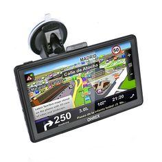 OHREX GPS Navigation 7 pouces écran Tactile Capacitif Il Dispose de Cartes Préchargées du Royaume-Uni et de l'Europe Occidentale,Chargeur usb double,mise à jour à vie Store 3, Cavo, Phone, Europe Occidentale, Maps, United Kingdom, Cards, Telephone