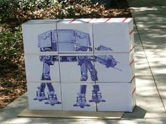 Star Wars party game - knock down the AT AT