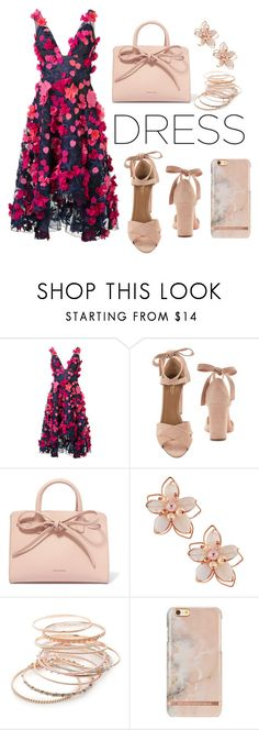 """Flower!"" by echi13 ❤ liked on Polyvore featuring Notte by Marchesa, Aquazzura, Mansur Gavriel, NAKAMOL and Red Camel"