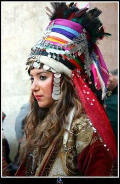 Turkish bride.  From Alaca (Çorum province, Central-Anatolia).  Mid-20th century.