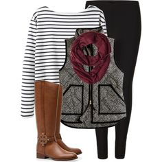 J. Crew Vest with cute outfit