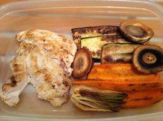 Pechugas de pollo a la plancha con verduras